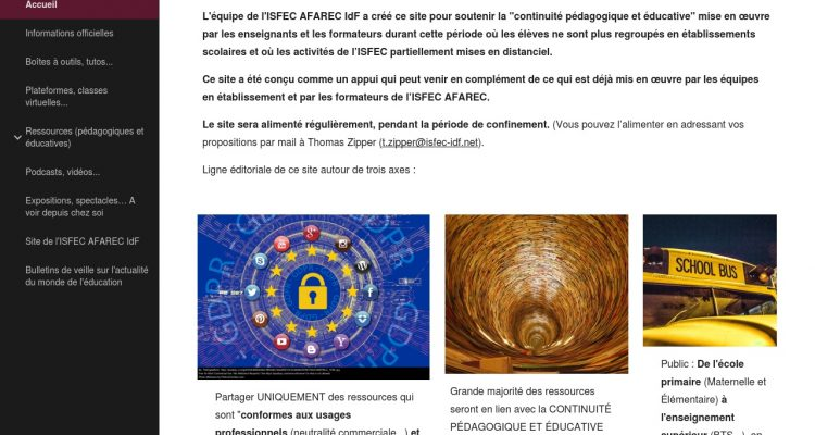 https://sites.google.com/isfec-idf.net/isfec-continuite-pedagogique/accueil