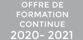 Nouvelle offre formation continue 2020-2021